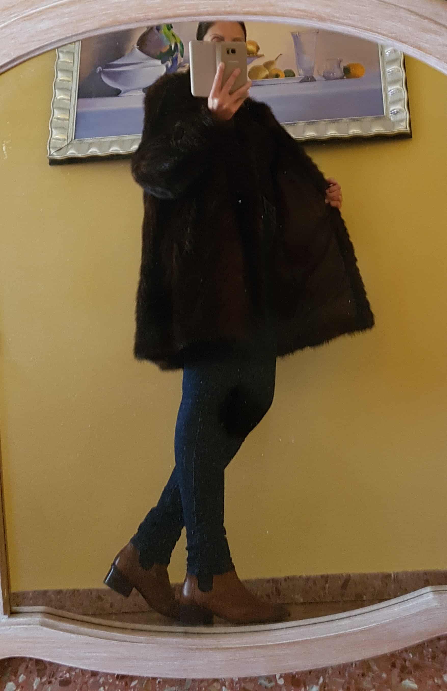 Vendo abrigo de visón auténtico 1