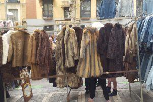 mercadillos abrigos de piel