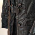 Abrigo de piel de potro en negro 1