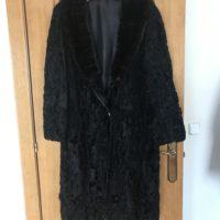 Abrigo negro Astracán