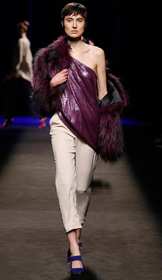 chaqueta de zorro Mujer- Chaqueta de piel