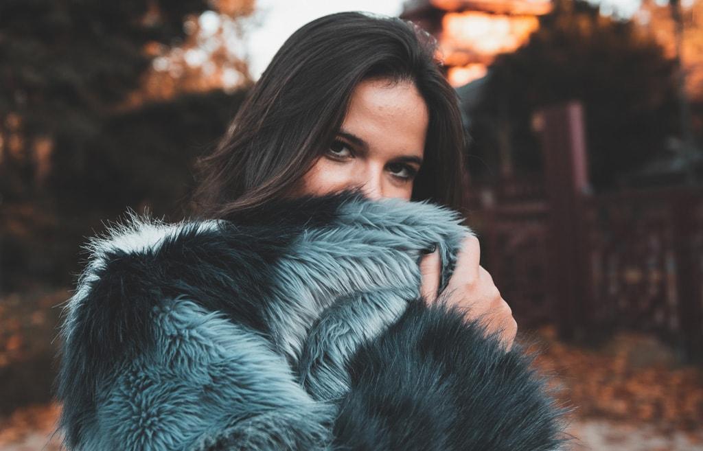 personal shopper abrigo piel