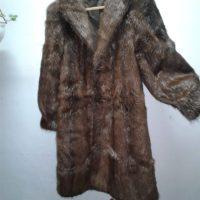 Abrigo largo nutria sin depilar