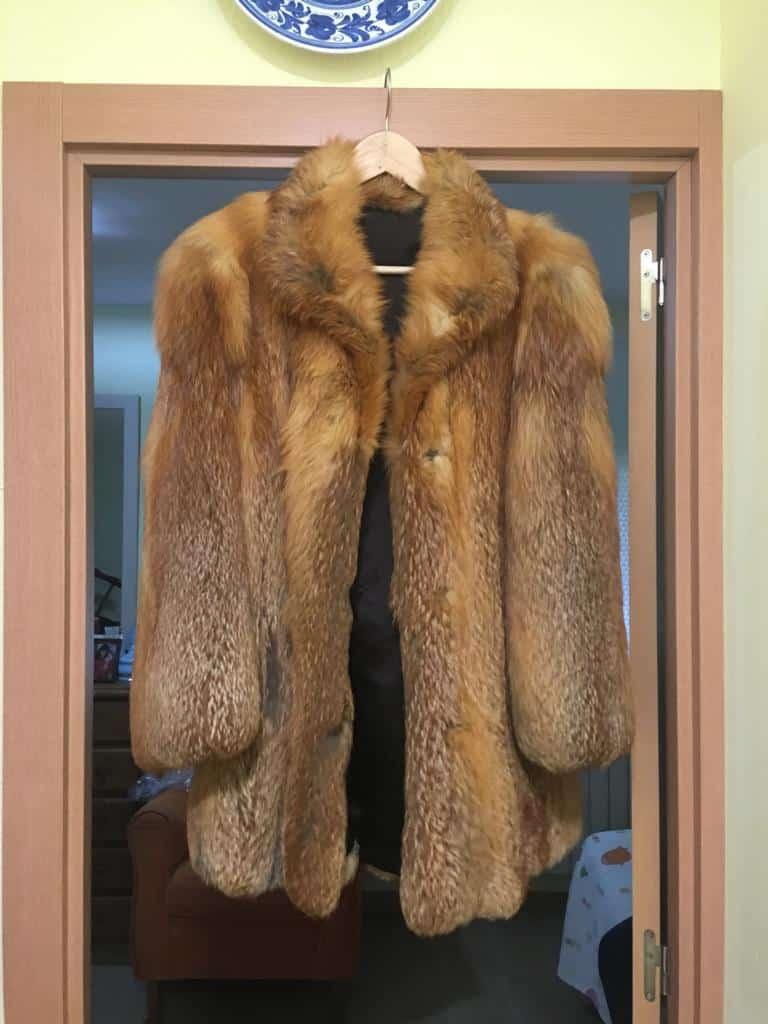 Chaquetón de piel de zorro de Canadá