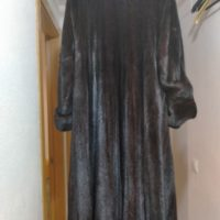 abrigo lomos de visón negro, alta calidad
