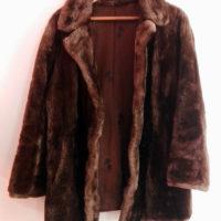 Abrigo corto  Piel Natural de Castor Despinzado perfecto estado 290€